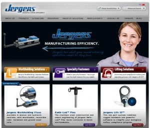Jergens, Inc. Website Home Page
