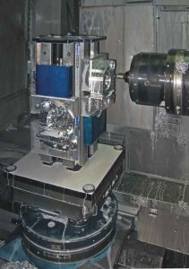 Horizontal Machining Center with Jergens Vise Column using Ball Lock Mounting system